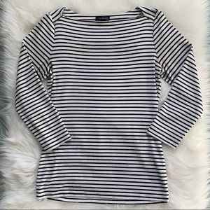 The Limited Boatneck Striped Shirt